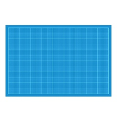 Sheet of blueprint paper vector image