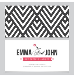 wedding card pattern 01 vector image vector image