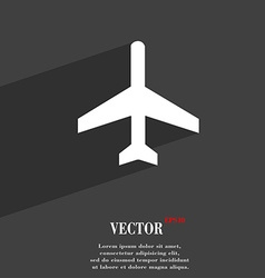 Airplane icon symbol flat modern web design with vector