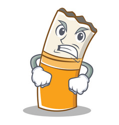 angry cigarette character cartoon style vector image