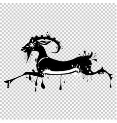 animal goat chinese lunar symbol chinese vector image