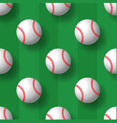 baseball seamless pattern tennis ball tile vector image