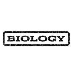 Biology watermark stamp vector