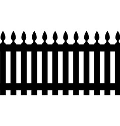 Black fence vector image