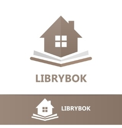 Book and house logo concept vector