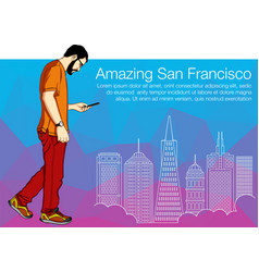 Buildings of san francisco for vector