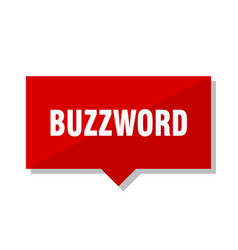 Buzzword red tag vector