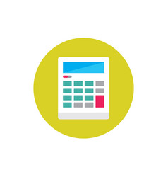 calculator - concept colored icon in flat graphic vector image