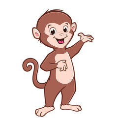 cartoon cute baby monkey vector image