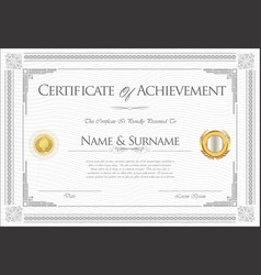 Certificate or diploma retro template 06 vector
