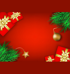 Christmas and new year s holiday background with vector