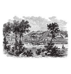 Cincinnati in 1812 vintage vector