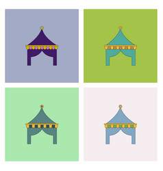 Circus tent set vector