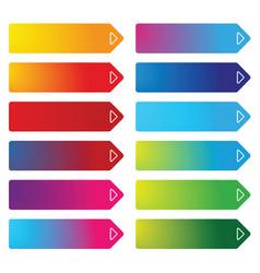 colorful empty web button set vector image