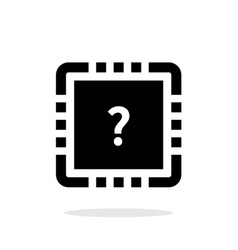 Cpu test simple icon on white background vector