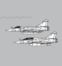 dassault mirage 2000 vector image