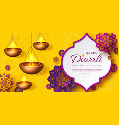 diwali festival holiday design vector image