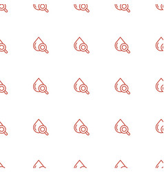Drop under magnifier icon pattern seamless white vector