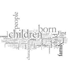 Effect birth order on children vector