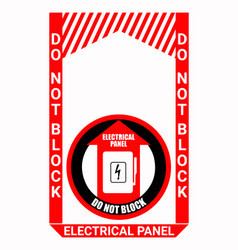 Electrical panel sign bundle vector
