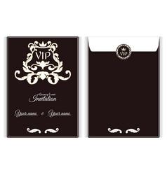 elegant vertical vip envelope it is executed in vector image