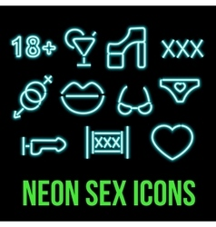Erotic xxx Icons vector