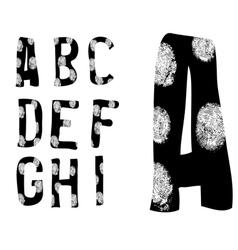 Fingerprint Alphabet Full A to I Set 1 of 3 vector