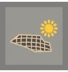 Flat shading style icon solar panels vector