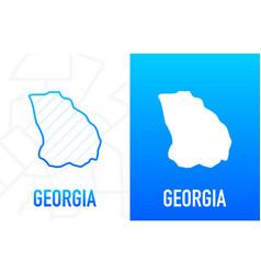 Georgia - us state contour line in white vector