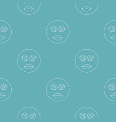 girl smile pattern seamless vector image