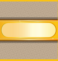 gold background with floral vector image
