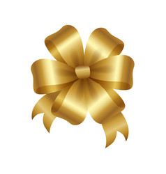 Golden bow knot with five loop vector
