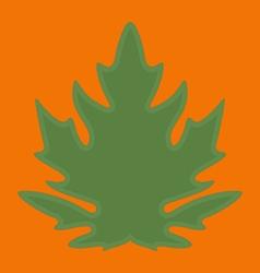 Green papaya leaf on orange background vector image