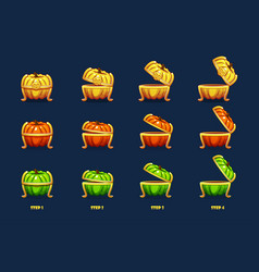 halloween chest animation step step vector image
