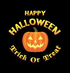 happy halloween pumpkins logo vector image