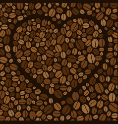 Heart made colored coffee beans vector
