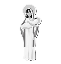 Holy mary holding bajesus icon vector