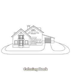 House cartoon coloring book vector