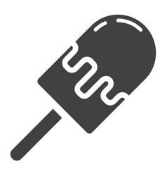 ice cream glyph icon food and drink sweet sign vector image