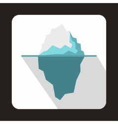 Iceberg icon in flat style vector