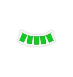 Icon sticker realistic design on paper garland vector