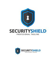 icon symbols protect shield key logo design vector image