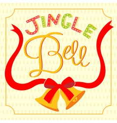 jingle bell card vector image