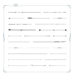 lines set for hud ui abstract elements vector image