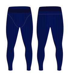 Man blue elastic tight pants vector