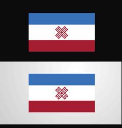Mari-el flag banner design vector
