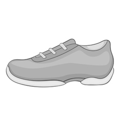 Men sneakers icon gray monochrome style vector