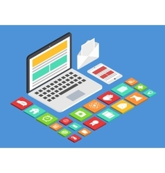 modern concept 3d isometric laptop vector image