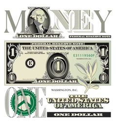 money 1 One vector image