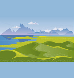mountain landscape with hills vector image